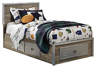 McKeeth Twin Panel Storage Bed, Gray, large