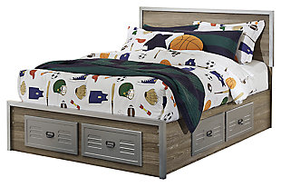 McKeeth Full Panel Storage Bed, Gray, large