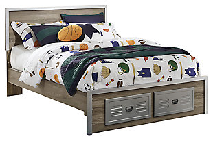 McKeeth Panel Bed with Storage, , large