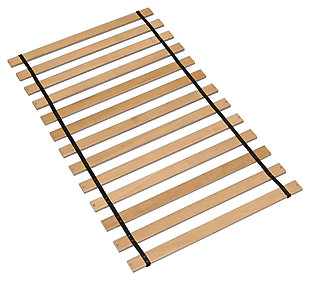 Frames and Rails Twin Roll Slat, Brown, rollover