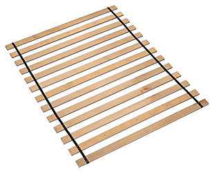 Frames and Rails King Roll Slats, Brown, rollover