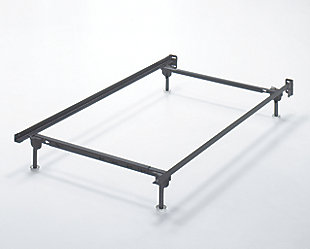 Frames and Rails Twin/Full Bolt on Bed Frame, Metallic, large