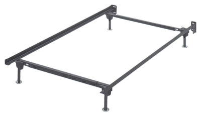 Twin Full Bolt On Bed Frame Metallic Rails Product Photo 3874
