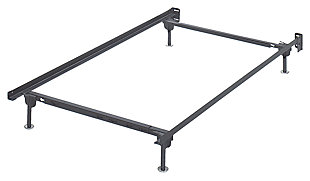 Frames and Rails Twin/Full Bolt on Bed Frame, Metallic, rollover