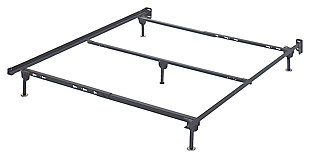 Frames and Rails Queen Bolt on Bed Frame, Metallic, large