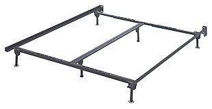 Frames and Rails Queen/King/California King Bolt on Bed Frame, Metallic, large