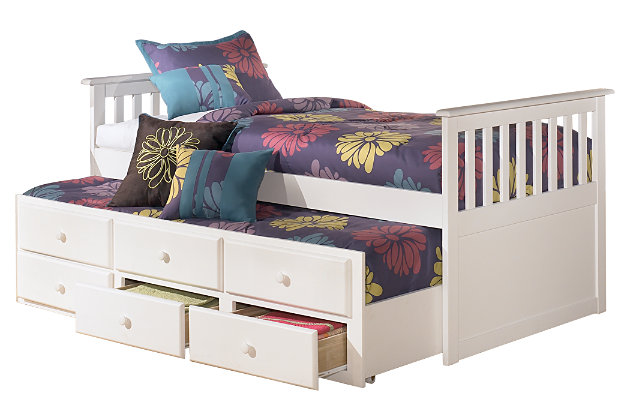 Lulu twin trundle bed ashley furniture homestore White twin trundle bedroom set