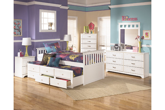 delight with one of these kids bedroom sets where the white twin trundle pulls out with
