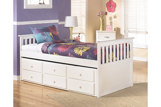 Lulu Twin Trundle Bed | Ashley Furniture HomeStore