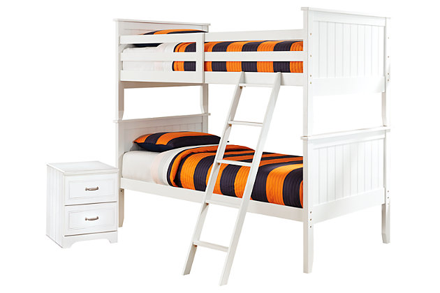 Lulu Twin over Twin Bunk Bed with Nightstand, , large