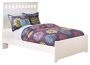 Lulu Full Panel Bed, White, large