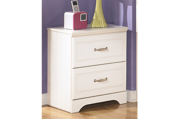 Lulu Nightstand, White, large