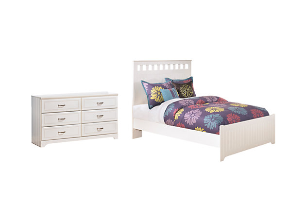 Lulu Full Panel Bed with Dresser, , large