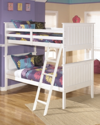 Ashley Lulu 3-Piece Twin over Twin Bunk Bed, White