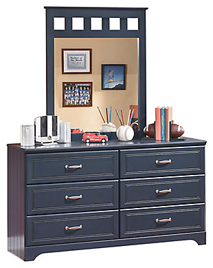 Leo Dresser and Mirror, Blue, large