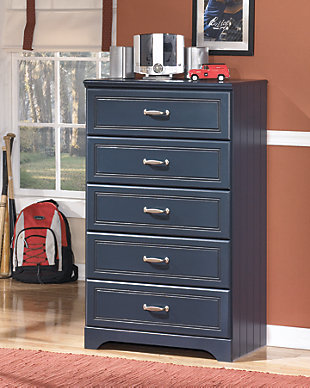 Leo Chest of Drawers, Blue, rollover