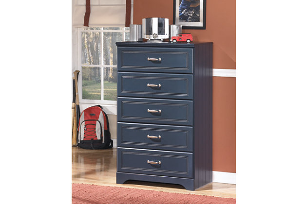 Leo Chest of Drawers, Blue, large