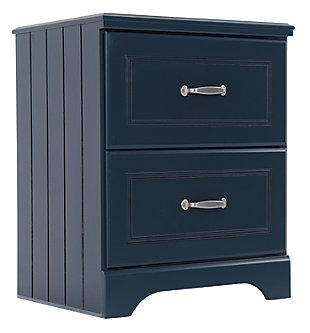 Leo Nightstand, Blue, large
