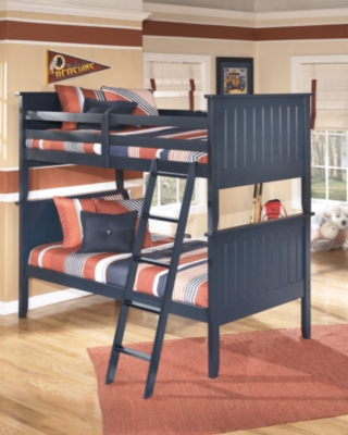 Ashley Leo 3-Piece Twin over Twin Bunk Bed, Blue