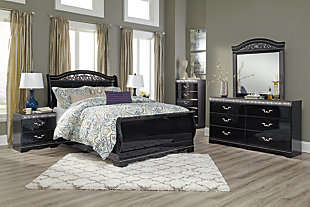 Constellations Queen Sleigh Bed, , large