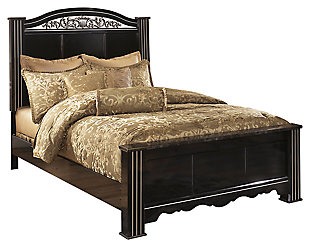 Constellations King Poster Bed, Black, large