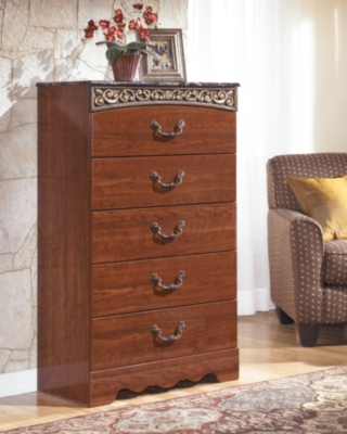 Ashley Fairbrooks Estate Chest of Drawers, Reddish Brown