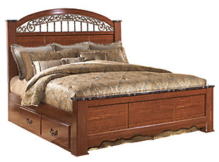 Fairbrooks Estate Poster Bed with Storage, , large