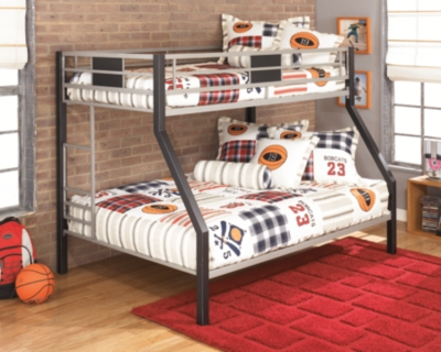 Ashley Dinsmore Twin over Full Bunk Bed, Black/Gray