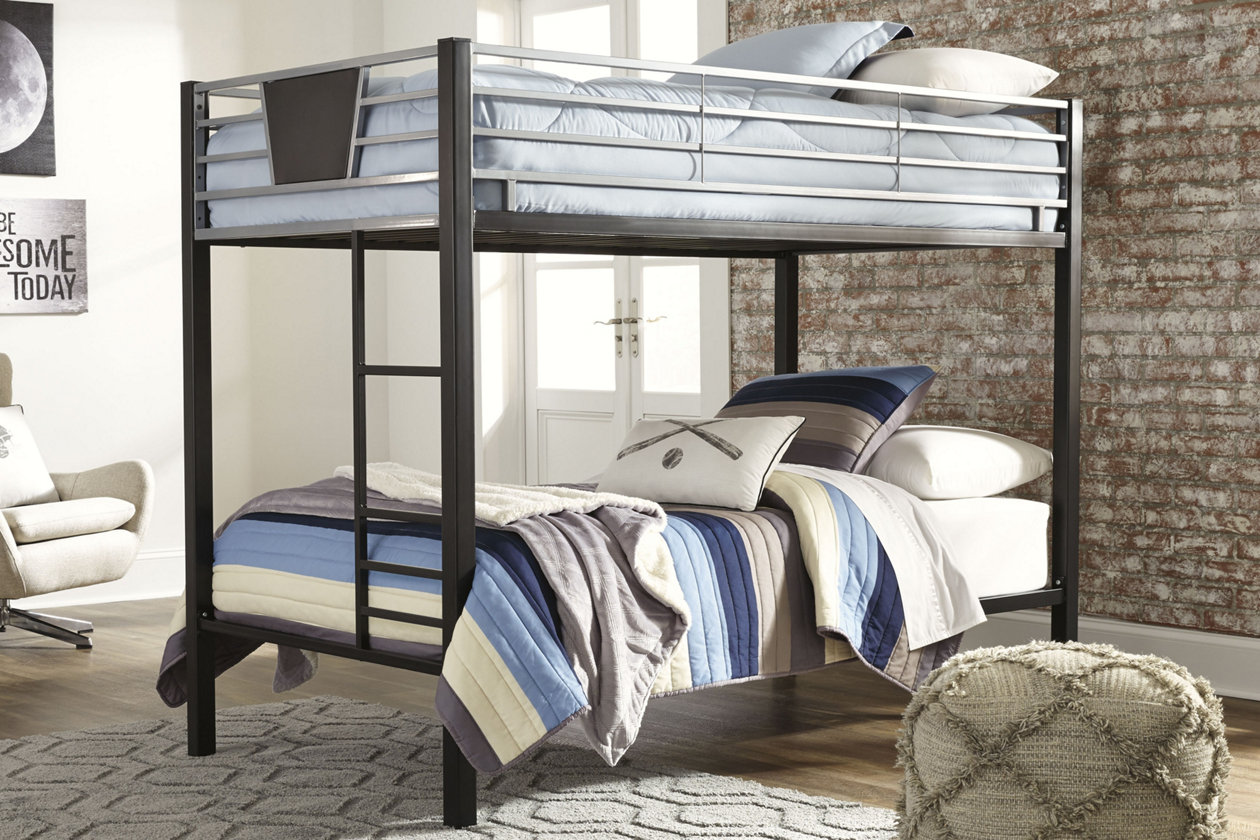 Dinsmore Twin over Twin Bunk Bed with Ladder | Ashley ...