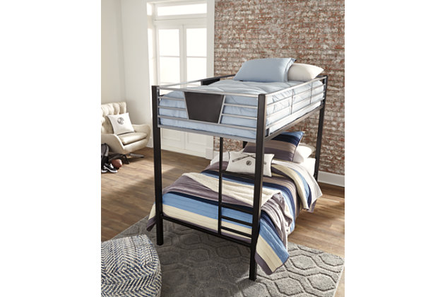 Dinsmore Twin over Twin Bunk Bed with Ladder, , large