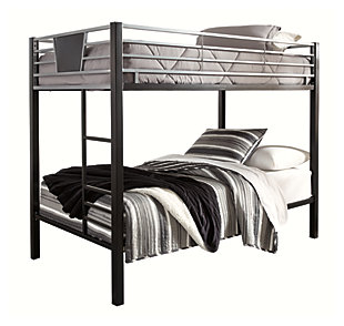 Dinsmore Twin Bunk Bed with Mattress and Pillow, , large