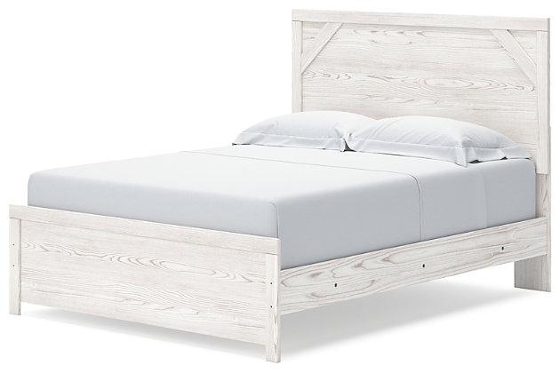 Gerridan Queen Panel Bed, White/Gray, large