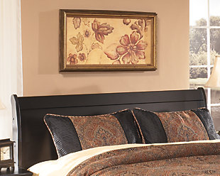 Huey Vineyard Queen Sleigh Headboard, Black, rollover