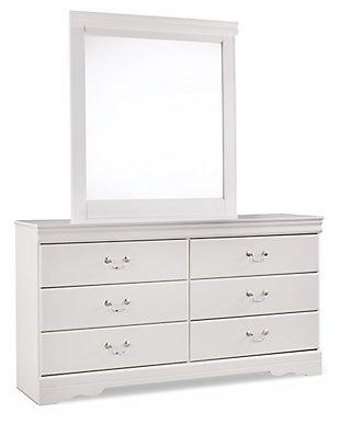 Anarasia Dresser and Mirror, White, large