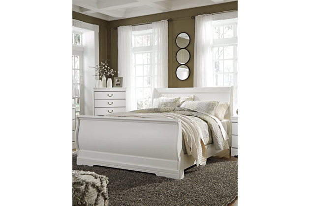 Anarasia Queen Sleigh Headboard, White, large