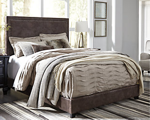 Dolante Queen Upholstered Bed, Brown, rollover
