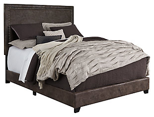 "Dolante King Upholstered Bed with 10"" Hybrid Bed in a Box Mattress, , large"