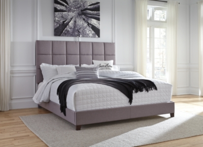 "Ashley Dolante King Upholstered Bed with 8"" Memory Foam M..."
