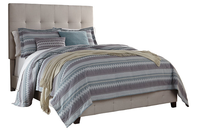 cream contemporary upholstered beds queen upholstered bed view 2 - Queen Upholstered Bed Frame