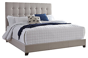 dolante queen upholstered bed beige - Queen Bedroom Frames