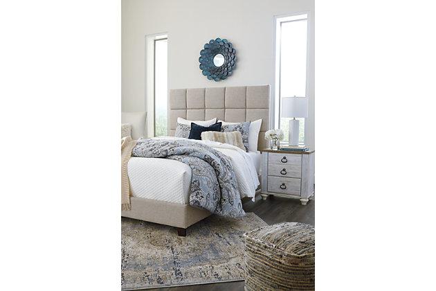 Dolante Queen Upholstered Bed, Beige, large