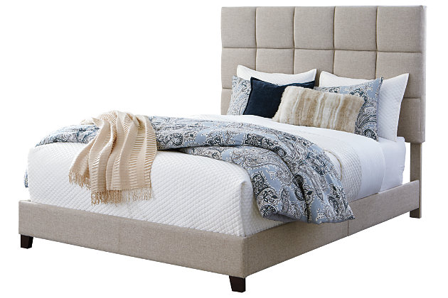 Dolante Queen Upholstered Bed, Beige, large