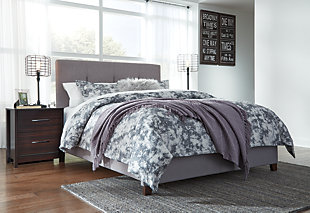 Dolante Queen Upholstered Bed, Gray, large