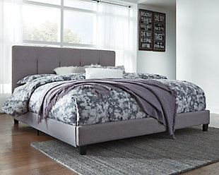 Dolante King Upholstered Bed, Gray, rollover