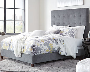 Dolante Queen Upholstered Bed, Gray, rollover