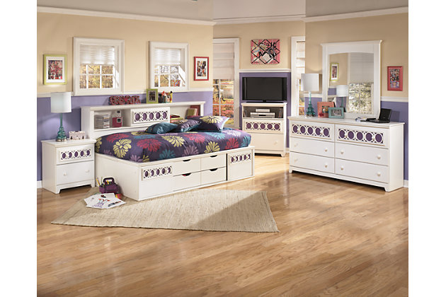 Product shown on a white background - Zayley Twin Bookcase Bed Ashley Furniture HomeStore