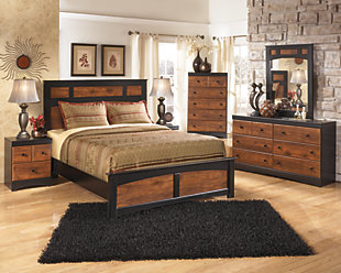 Aimwell Full Panel Bed, Dark Brown, large