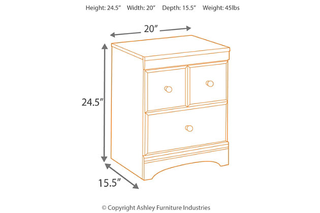 aimwell nightstand | ashley furniture homestore