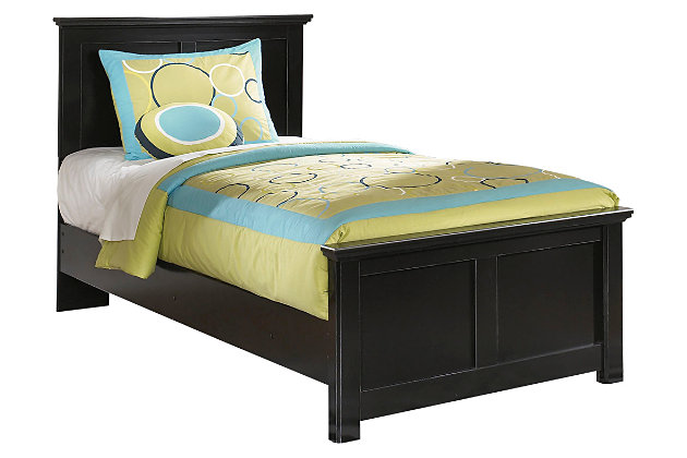 Black Maribel Twin Panel Bed by Ashley HomeStore