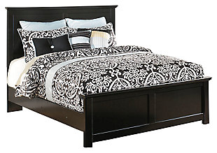 Maribel King Panel Bed, Black, large